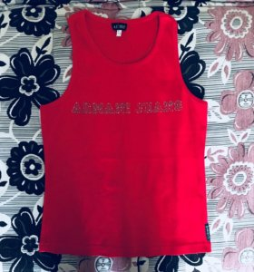 Майка Armani Jeans красная