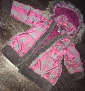 Зимнее пальтишко с натуральным мехом