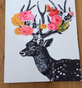 Картина олень