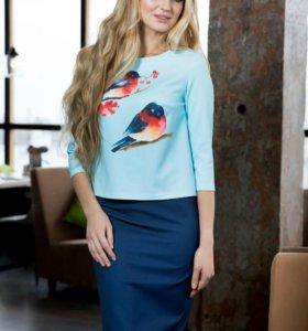 Комплект блуза и юбка новый, размер 44