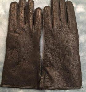 Перчатки кожаные женские 7ка