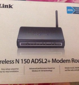 ADSL Modem Router. D-Link DSL- 2640U. Wi-Fi.
