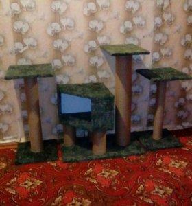 Домики и стойки для котика