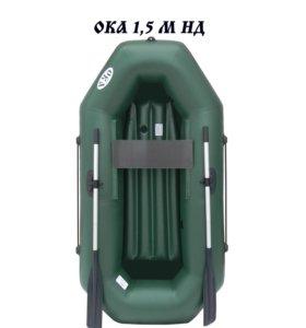 Лодка ПВХ Ока 1,5 НД (надувное дно) на веслах