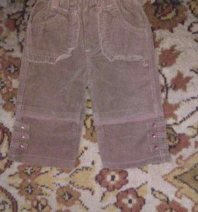Коричневые вильветовые штаны