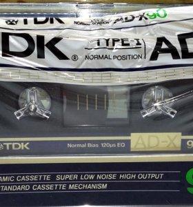 Аудиокассета TDK AD-X90(1986г.)Japan