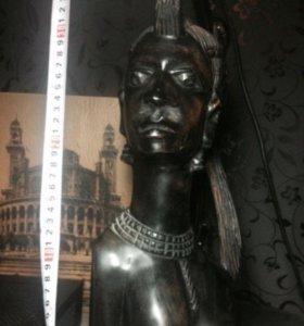 Африканская статуэтка из чёрного дерева Эбен.