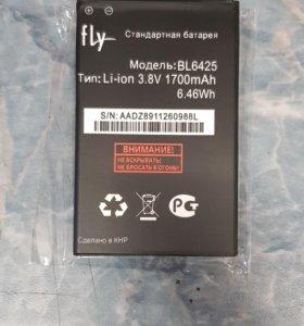 АКБ аккумуляторная батарея fly fs454 bl6425