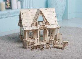 Домик для кукол с мебелью. Новый.
