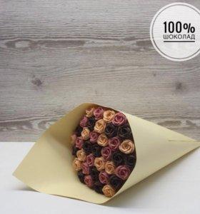 Цветы из шоколада подарок праздник
