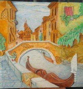 """Картина из дерева """"Венеция"""""""