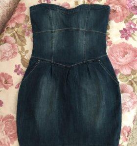 Платье джинс Pull&Bear