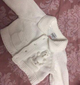 Детская кофта 0-3 месяца