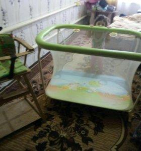 Манеж+ стул