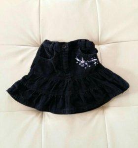 Вельветовая юбка 92-98р