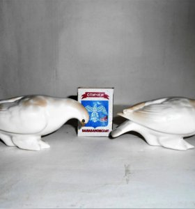 Продам две фарфоровые статуэтки Голубь лфз