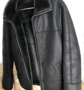 Дубленка мужская 50-52 чёрная