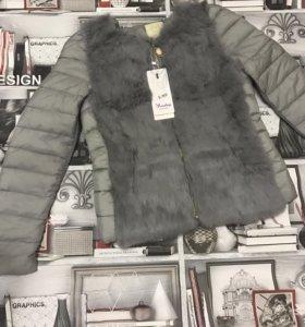 Куртка с мехом кролика