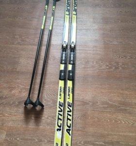 Комплект лыжи/ палки/крепления