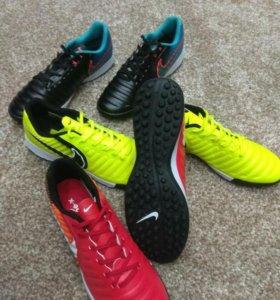 Сороконожки шиповки Nike tiempo x
