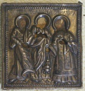 Икона серебро 16 век, сохранения семьи