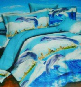 2-х спальное постельное белье.