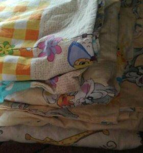 5 штук постельное .одеяло матрас