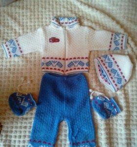 Вязаный костюмчик для мальчика