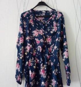 Блуза детсккя удлиненная(бренд:sela)