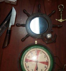 Часы корабельные старые