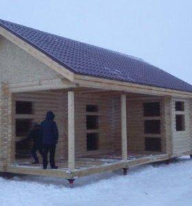 Строительство домов бань, гаражей