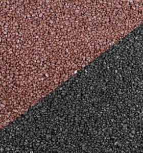 Чёрный и коричневый кварц для аквариума (1-2мм)