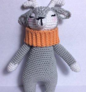 Оленёнок Вязаная игрушка (амигуруми)