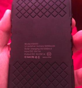 Внешний аккумулятор (павербанк) на 5000 мАч
