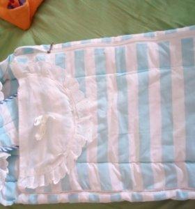 Конверт для новорожденного новые пеленки и уголок