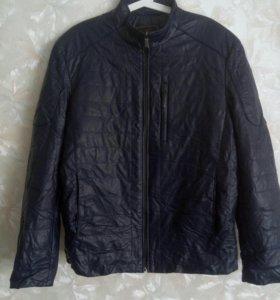 Куртка мужская темно-синяя,кожзам,50-52 размер