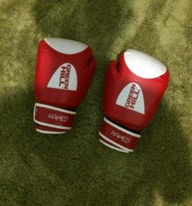 Боксерские перчатки «Green Hill»