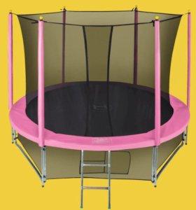 Качественный батут Classic Pink для детей и взросл