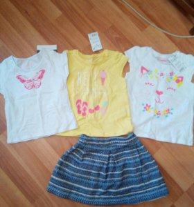 Детские вещи на 2-3 года на девочку, новые