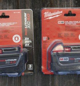 Новый аккумулятор Milwaukee M18 4А.ч