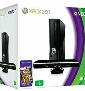 Xbox 360 + Kinect + 1 Джостика