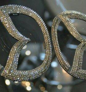 Super эмблемы mazda3 с кристаллами Swarovski