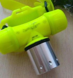 Подводный налобный фонарь белый свет