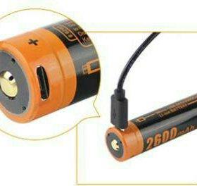 micro-USB Li-ion 18650 Аккумулятор 2600 mah Boruit