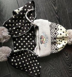 Новая шапка+шарф для мальчика