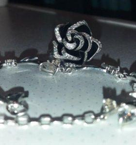 Браслет и кольцо серебро