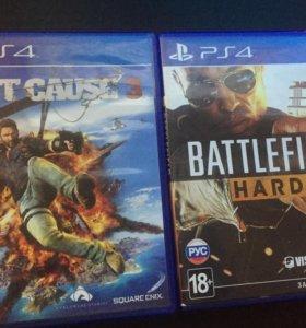 2 игры на PS4 обмен или продажа.