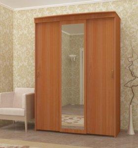 Шкаф купе 1,5м ширина с зеркалом
