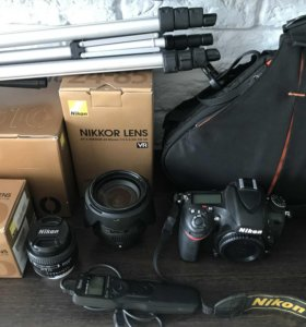 Nikon D610 + два объектива+рюкзак+пульт+штатив
