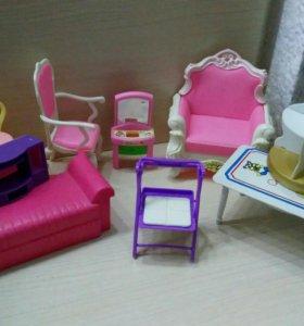Игрушечная мебель для барби.